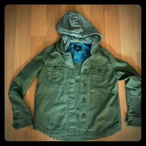 American Eagle Olive Green Spring jacket with hood
